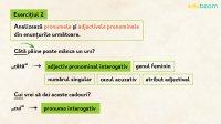 Pronumele și adjectivul pronominal interogativ. Exerciții
